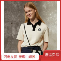 T-shirt Q3 smile Polo Beige S,M,L Summer 2021 Short sleeve Polo collar easy Regular routine commute cotton 86% (inclusive) -95% (inclusive) Britain Cool