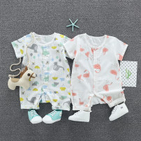 Jumpsuit / climbing suit / Khaki Other / other Class A neutral Semi transparent white natural white light orange white milky white yellow red light blue light green pink watermelon red off white Size 66: 0-4 months, size 73: 4-8 months, size 80: 8-12 months, Size 90: 12-18 months cotton summer LS1801