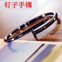 Bracelet Titanium steel 10-19.99 yuan Other / other brand new Japan and South Korea Custom made lovers Fresh out of the oven Not inlaid other