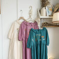 Dress Summer 2021 Average size Mid length dress singleton  Short sleeve Loose waist Solid color 31% (inclusive) - 50% (inclusive) cotton