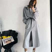 Fashion suit Spring 2021 S,L,M grey 25-35 years old polyester fiber