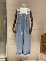 Jeans Spring 2021 wathet S,M,L,XL trousers High waist rompers routine 18-24 years old 31% (inclusive) - 50% (inclusive)