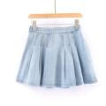 skirt Spring 2021 S,M,L,XL Denim blue Short skirt Versatile Natural waist A-line skirt other More than 95% other other
