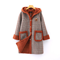 woolen coat Spring 2021 S, M lattice other 95% and above Medium length street Single breasted lattice