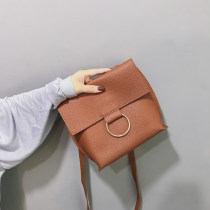Bag The single shoulder bag PU Envelope bag Other / other Brown gray green black brand new Japan and South Korea Small leisure time soft Magnetic buckle yes Solid color Single root One shoulder cross nothing youth Envelope shape Sewing Soft handle one thousand two hundred and nine soft surface