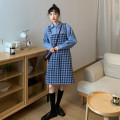 Fashion suit Winter 2020 Average size Plaid strap skirt, shirt Other / other 91% (inclusive) - 95% (inclusive)