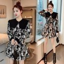 Dress Autumn 2020 Brown, black S,M,L,XL Middle-skirt singleton  18-24 years old