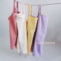 Vest sling Purple, white, yellow, pink camisole 100,110,120,130,140,150 No season female No model Solid color nothing Three, four, five, six, seven, eight, nine