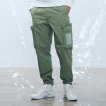 Casual pants AKseries Youth fashion Army green 29 30 31 32 33 34 36 routine trousers Other leisure Straight cylinder No bullet youth Cotton 56% polyamide fiber (nylon) 44% Solid color other other Spring 2020