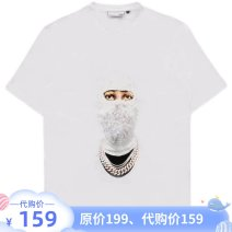 T-shirt Youth fashion Thin black, fresh white, mature green routine S,M,L,XL GXG Short sleeve Crew neck easy Other leisure summer GB144147C Cotton 100% youth routine tide Cotton wool 2021 character Hot drilling cotton Figure pattern other Domestic famous brands