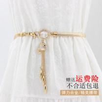 Belt / belt / chain Metal grace Single loop Youth, youth a hook Diamond inlay 1cm alloy Tightness