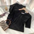 Dress Spring 2021 black S,M,L,XL Mid length dress singleton  Short sleeve commute Crew neck Solid color One pace skirt routine 51% (inclusive) - 70% (inclusive) cotton
