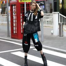 Fashion suit Summer 2021 One size fits all Black suit, black pants, black top O-BAI 91902-91903 51% (inclusive) - 70% (inclusive) cotton
