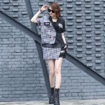 Fashion suit Summer 2021 S (85-100kg), m (100-115kg), l (115-130kg), XL (125-140kg) grey O-BAI 51% (inclusive) - 70% (inclusive) hemp