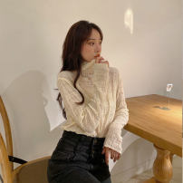 Women's large Winter 2020, autumn 2020 Picture color L (recommended 100-120 kg), XL (recommended 120-140 kg), 2XL (recommended 140-160 kg), 3XL (recommended 160-180 kg), 4XL (recommended 180-200 kg) T-shirt singleton  commute Self cultivation moderate Socket Long sleeves Solid color Korean version