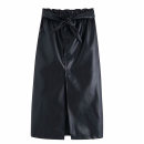 skirt Winter of 2019 XS,S,M,L Black [9785] longuette street High waist Solid color Europe and America