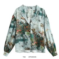 shirt Picture color [2030] XS,S,M,L Spring 2020 other 51% (inclusive) - 70% (inclusive) Long sleeves street Regular tailored collar Single row multi button printing Europe and America