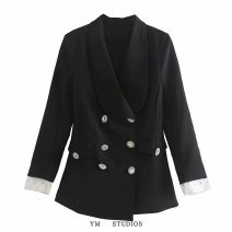 suit Autumn 2020 Black [6651] XS,S,M,L Long sleeves Self cultivation double-breasted street