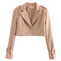 suit Autumn of 2019 S,M,L Long sleeves have cash less than that is registered in the accounts A button street Solid color