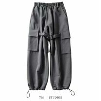 Casual pants Grey [wt99], black [wt99] S,M,L Spring 2020 Ninth pants Overalls High waist street routine Europe and America
