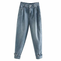 Jeans Winter of 2019 Picture color [1199] XS,S,M,L trousers High waist routine