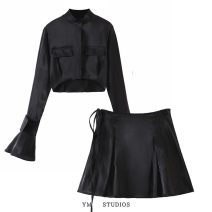 Fashion suit Spring 2021 S,M,L White shirt [9470], black shirt [9470], white skirt [9471], black skirt [9471], white suit, black suit 81% (inclusive) - 90% (inclusive)