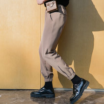 Casual pants CHICERRO Youth fashion Khaki, black, apricot S,M,L,XL routine Ninth pants Other leisure easy Micro bomb spring teenagers tide 2021 middle-waisted Little feet Polyester fiber 49% viscose fiber (viscose fiber) 24% cotton 23.5% polyurethane elastic fiber (spandex) 3.5% Tapered pants