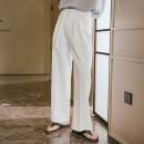 Casual pants CHICERRO Youth fashion White, black S,M,L,XL routine trousers Other leisure easy summer teenagers tide 2021 middle-waisted Straight cylinder Tapered pants Three dimensional tailoring No iron treatment Solid color
