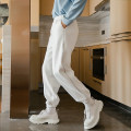 Casual pants CHICERRO Youth fashion Black, white S,M,L,XL thick trousers Other leisure easy Micro bomb winter teenagers tide 2020 High waist Little feet Haren pants Arrest line No iron treatment other
