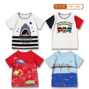 T-shirt This is a white train, this is a white shark, this is a blue train, this is a red train Qianqujia 100cm, 110cm, 120cm, 130cm, 90 (with shoulder buckle) male summer Short sleeve Crew neck solar system No model nothing Pure cotton (100% cotton content) Cartoon animation Cotton 100% Class A