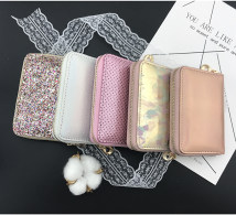 wallet Short Wallet PU Other / other brand new Sweet Lady  female zipper other other other youth printing polyester fiber Short Wallet soft surface