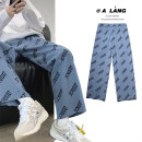 Jeans Youth fashion Others M,L,XL,2XL Click on the front of the photo to select the color routine Micro bomb trousers Other leisure summer teenagers Medium low back Loose straight tube tide 2020