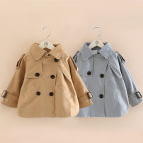 Plain coat Shell element female 100cm,110cm,120cm,130cm,140cm,150cm spring and autumn Korean version double-breasted No model routine nothing Solid color other other Class B
