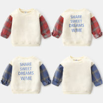 Sweater / sweater Shell element Red sleeves, blue sleeves male 100cm,110cm,120cm,130cm,140cm,150cm spring and autumn nothing Europe and America Socket routine No model other other Other 100% wta022 Class B