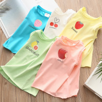 T-shirt White, green, blue, yellow, pink Shell element 90cm,100cm,110cm,120cm,130cm,140cm female summer To be deleted Crew neck fresh No model nothing other other Other 100% txb501 Class B 2, 3, 4, 5, 6, 7, 8, 9, 14, 13, 12, 11, 10