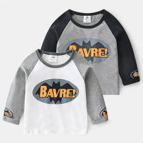 T-shirt Grey sleeves, black sleeves Shell element 90cm,100cm,110cm,120cm,130cm,140cm male spring and autumn Long sleeves Crew neck Europe and America No model nothing other Cartoon animation txa663 Class B 2, 3, 4, 5, 6, 7, 8, 9, 10, 11, 12, 13, 14 years old