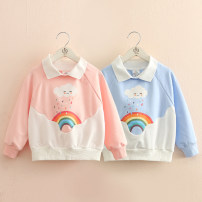 Sweater / sweater Shell element Blue, pink female 140cm,130cm,120cm,110cm,100cm,90cm spring and autumn nothing fresh Socket routine No model other other Class B