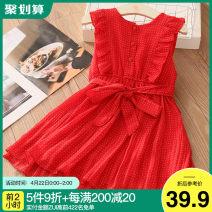Dress gules female Shell element 100cm,110cm,120cm,130cm,140cm,150cm Other 100% summer fresh Skirt / vest other other qz5619 Class B 2, 3, 4, 5, 6, 7, 8, 9, 10, 11, 12, 13, 14 years old