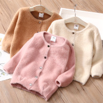 Sweater / sweater 150cm,140cm,130cm,120cm,110cm,100cm,90cm other female Off white, khaki, pink Shell element fresh No model Single breasted other nothing Solid color my1489 Class B 14, 13, 12, 11, 10, 9, 8, 7, 6, 5, 4, 3, 2 years old