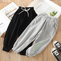 trousers Shell element female 90cm,100cm,110cm,120cm,130cm,140cm,150cm Gray, black spring and autumn trousers fresh No model Casual pants Tether kzd305 Class B 2, 3, 4, 5, 6, 7, 8, 9, 10, 11, 12, 13, 14 years old