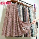 skirt Summer 2021 Average size Mid length dress commute High waist A-line skirt Broken flowers Type A Chiffon other printing Korean version