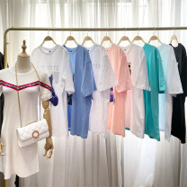 T-shirt Live selection 9 yuan, 19.9 yuan, 29.9 yuan, 39.9 yuan, 49.9 yuan, 59.9 yuan, 69.9 yuan, 79.9 yuan, 89.9 yuan Summer 2020 Short sleeve Crew neck easy Medium length routine commute cotton 96% and above 18-24 years old classic Animal design Printing, Sequin, stitching, asymmetry