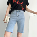 Jeans Spring 2021 Black, dark grey, light blue S,M,L,XL Pant High waist Pencil pants routine 18-24 years old Old, other Cotton elastic denim Dark color Other / other 96% and above