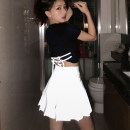 skirt Summer of 2019 XS S M L XL Short skirt sexy High waist Pleated skirt Solid color 18-24 years old More than 95% Oh polyester fiber Polyester 100% Pure e-commerce (online only)