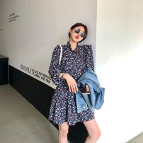 Women's large Spring 2021 Picture color Large, 3XL, 4XL, large Dress singleton  commute Self cultivation moderate Socket Long sleeves Korean version Crew neck Three dimensional cutting routine L5981 Mr. Zhang 25-29 years old Medium length Pleated skirt Lotus leaf edge