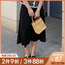 Women's large Summer 2021 Black pre sale (5) . 06) L XL 2XL 3XL 4XL 5XL skirt singleton  commute easy thin other Korean version Polyester others Three dimensional cutting BQ0158 Caidoble / caidoble · CAI 25-29 years old 96% and above Medium length