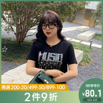 Women's large Summer 2021 L XL 2XL 3XL 4XL 5XL T-shirt singleton  commute easy moderate Socket Short sleeve Shape letter Korean version Crew neck routine Cotton others Three dimensional cutting routine Caidoble / caidoble · CAI 25-29 years old 91% (inclusive) - 95% (inclusive)