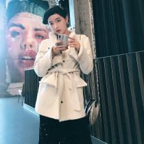 short coat Весна 2018 г. S M L Black (spot flash) white (spot flash) Длинные рукава общепринятый прямой Постоянный ошейник Однобортный Чистый цвет Openlady 71% (включительно) - 80% (включительно)