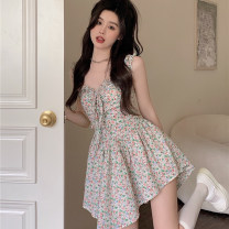 Dress Summer 2021 Floral skirt S, M Short skirt singleton  Short sleeve commute other High waist Socket A-line skirt other camisole 18-24 years old Type A Other / other Korean version 9792# 31% (inclusive) - 50% (inclusive) other other