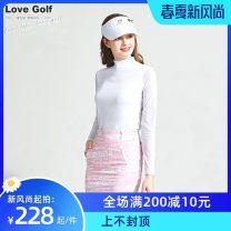 Golf apparel White blue jacket, white pink jacket, blue printed skirt, pink printed skirt S,M,L,XL female LoveGolf Long sleeve T-shirt XLU1098